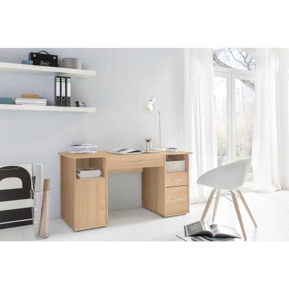 Schreibtisch computertisch buche neu ovp ebay for Computertisch in buche